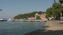 Cavtat view of promenade Stock Footage