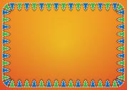 Stock Illustration of trees on orange background