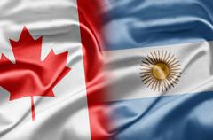 Canada and argentina Stock Illustration