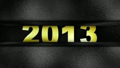 2013 text in wall GOLD Stock Footage