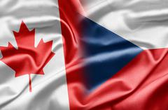 Canada and czech Stock Illustration