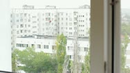 View from the window Stock Footage