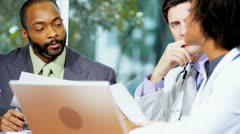 Multi Ethnic Medical Consultants Boardroom Planning Meeting  - stock footage