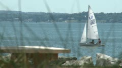 Sailboats on the bay (1 of 8) Stock Footage