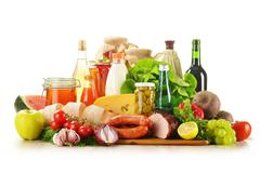 Stock Photo of composition with variety of grocery products