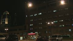 Stock Footage - HD 1080p - Hospital Wide Shot - Night - Emergency Room Stock Footage