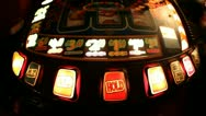 Stock Video Footage of Flashing Fruit Machine HD