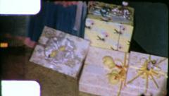 BABY SHOWER CHAIR Pregnancy Celebration  1960s (Vintage Film Home Movie) 6199 Stock Footage