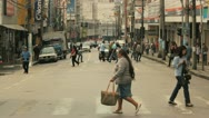 Crowd - Brazil 3 -  Timelapse, avenue, cars, people crossing Stock Footage