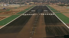 Jet Liner Lands at San Diego Airport Stock Footage