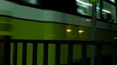 DART train at night 2 Stock Footage