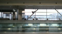Airport Terminal Time Lapse Stock Footage