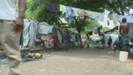 Stock Video Footage of Haiti tent city inside3