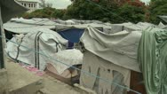 Stock Video Footage of Haiti tent city inside5