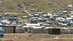 Haiti tent city new2 Stock Footage
