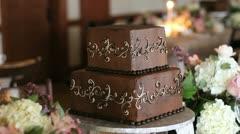 wedding cake chocolate - stock footage