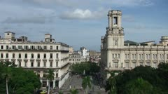 Havana, Overview from the roof, tiltdown Stock Footage