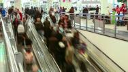 Stock Video Footage of Escalator in shopping center. Timelapse.