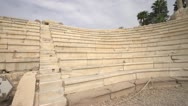 Alexandria, roman ruins theatre pan wide Stock Footage