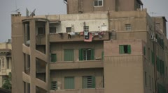Apartment Alexandria with laundry on balconies, #1 Stock Footage