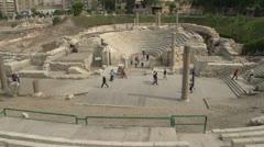 Alexandria, roman ruins theatre wide shot Stock Footage