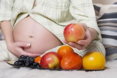 Expectant mother - stock photo