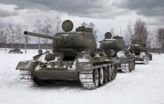 old russian tanks - stock photo