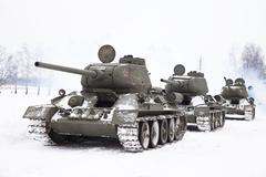 Stock Photo of russian tanks t34