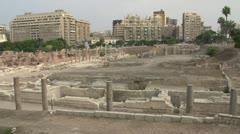 Alexandria, roman ruins pan, #2 Stock Footage