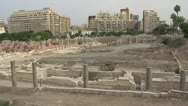 Stock Video Footage of Alexandria, roman ruins pan, #2