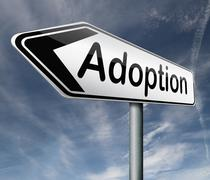 adoption - stock illustration