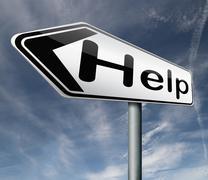 Help desk support Stock Illustration