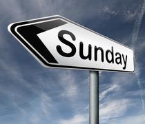 sunday - stock illustration