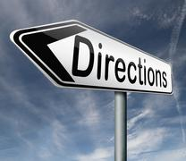 find directions - stock illustration