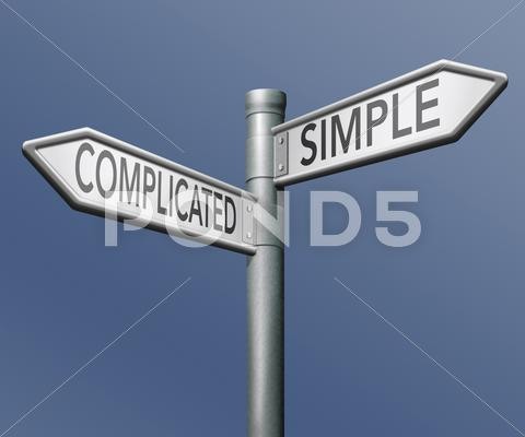 Stock Illustration of complicated or simple