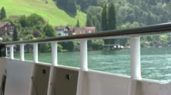 Approaching land on boat ride Stock Footage