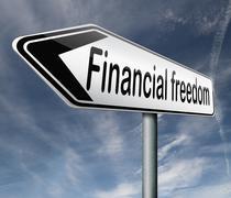 Financial freedom Stock Illustration