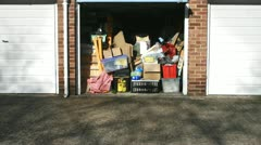 Big garage clearout - stock footage