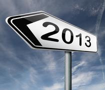 2013 new year - stock illustration