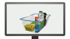 Shopping online using a television. Stock Footage