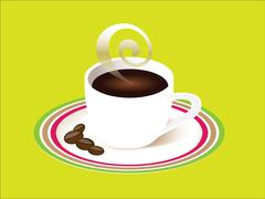 Cup of coffee with saucer Stock Illustration