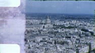 ABOVE PARIS from Eiffel Tower 1950 (Vintage Old Film Home Movie Footage) 6220 Stock Footage