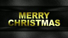 merry christmas text in wall GOLD 1280x720 - stock footage