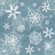 Snowflakes seamless background - stock illustration