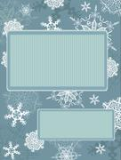 Christmas vintage frame with snowflakes Stock Illustration