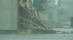 Hurricane damage Stock Footage