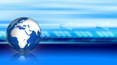 Global Business Looping Background with Arrows Stock Footage