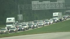 Hurricane Evacuation traffic Stock Footage