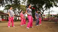 Dance training Stock Footage
