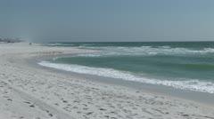 Sandy Beach Ocean Stock Footage